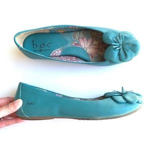 B.O.C Slip-on Floral Accent Flats Loafers Shoes